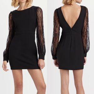 Rachel Zoe Blk Andrews Bishop-sleeve Jersey Dress